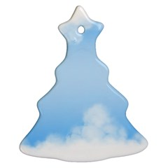 Sky Cloud Blue Texture Christmas Tree Ornament (two Sides)