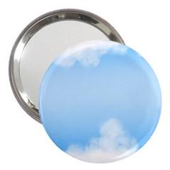 Sky Cloud Blue Texture 3  Handbag Mirrors
