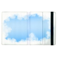 Sky Cloud Blue Texture Apple Ipad 2 Flip Case