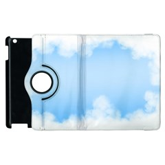 Sky Cloud Blue Texture Apple Ipad 3/4 Flip 360 Case