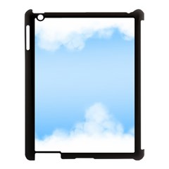 Sky Cloud Blue Texture Apple Ipad 3/4 Case (black)