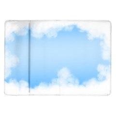 Sky Cloud Blue Texture Samsung Galaxy Tab 10 1  P7500 Flip Case