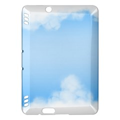 Sky Cloud Blue Texture Kindle Fire Hdx Hardshell Case