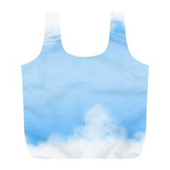 Sky Cloud Blue Texture Full Print Recycle Bags (l)