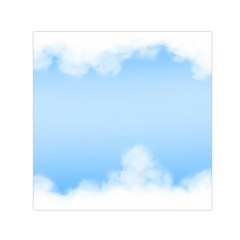 Sky Cloud Blue Texture Small Satin Scarf (square)