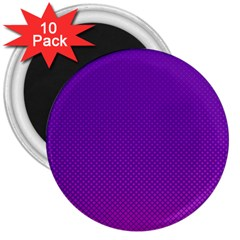 Halftone Background Pattern Purple 3  Magnets (10 Pack)