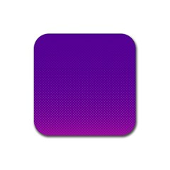 Halftone Background Pattern Purple Rubber Square Coaster (4 Pack)