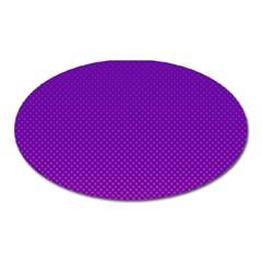 Halftone Background Pattern Purple Oval Magnet