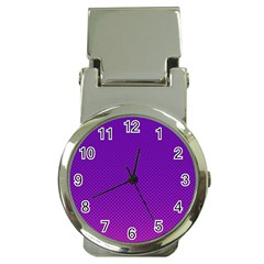 Halftone Background Pattern Purple Money Clip Watches