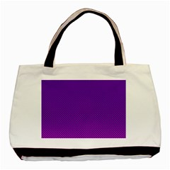 Halftone Background Pattern Purple Basic Tote Bag