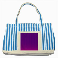 Halftone Background Pattern Purple Striped Blue Tote Bag