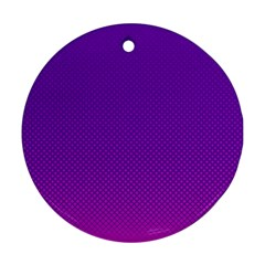 Halftone Background Pattern Purple Round Ornament (two Sides)