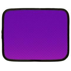 Halftone Background Pattern Purple Netbook Case (xxl)