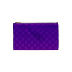Halftone Background Pattern Purple Cosmetic Bag (small)