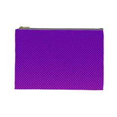 Halftone Background Pattern Purple Cosmetic Bag (large)