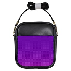 Halftone Background Pattern Purple Girls Sling Bags