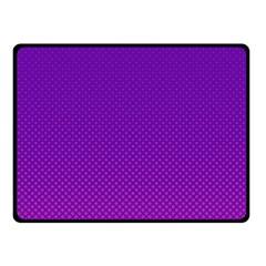 Halftone Background Pattern Purple Fleece Blanket (small)