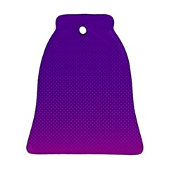 Halftone Background Pattern Purple Bell Ornament (two Sides)