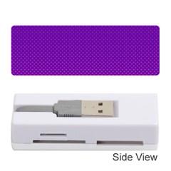 Halftone Background Pattern Purple Memory Card Reader (stick)