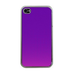 Halftone Background Pattern Purple Apple Iphone 4 Case (clear)