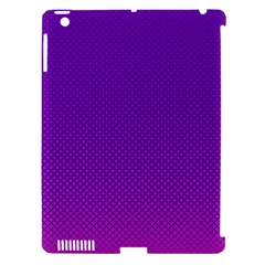 Halftone Background Pattern Purple Apple Ipad 3/4 Hardshell Case (compatible With Smart Cover)