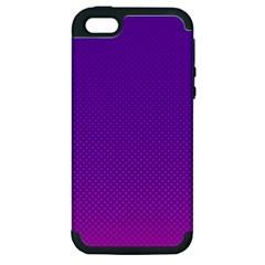 Halftone Background Pattern Purple Apple Iphone 5 Hardshell Case (pc+silicone)