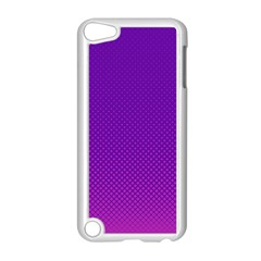 Halftone Background Pattern Purple Apple Ipod Touch 5 Case (white)