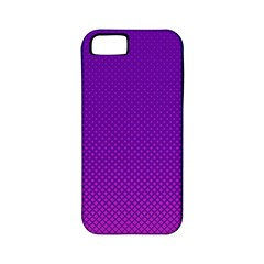 Halftone Background Pattern Purple Apple Iphone 5 Classic Hardshell Case (pc+silicone)