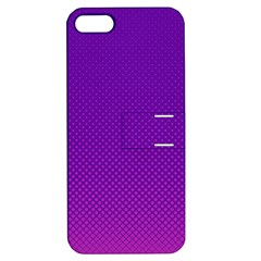 Halftone Background Pattern Purple Apple Iphone 5 Hardshell Case With Stand