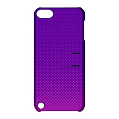 Halftone Background Pattern Purple Apple Ipod Touch 5 Hardshell Case With Stand