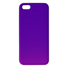 Halftone Background Pattern Purple Iphone 5s/ Se Premium Hardshell Case