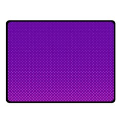 Halftone Background Pattern Purple Double Sided Fleece Blanket (small)