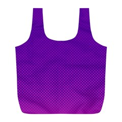Halftone Background Pattern Purple Full Print Recycle Bags (l)