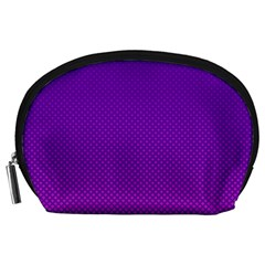 Halftone Background Pattern Purple Accessory Pouches (large)