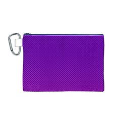 Halftone Background Pattern Purple Canvas Cosmetic Bag (m)