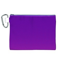 Halftone Background Pattern Purple Canvas Cosmetic Bag (xl)