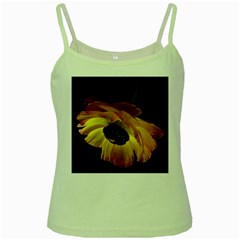 Ranunculus Yellow Orange Blossom Green Spaghetti Tank