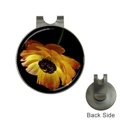 Ranunculus Yellow Orange Blossom Hat Clips With Golf Markers