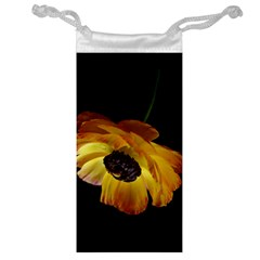 Ranunculus Yellow Orange Blossom Jewelry Bag