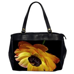 Ranunculus Yellow Orange Blossom Office Handbags (2 Sides)