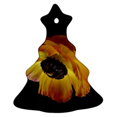 Ranunculus Yellow Orange Blossom Christmas Tree Ornament (two Sides)
