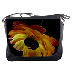 Ranunculus Yellow Orange Blossom Messenger Bags