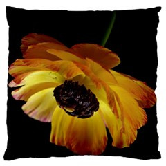 Ranunculus Yellow Orange Blossom Large Cushion Case (two Sides)