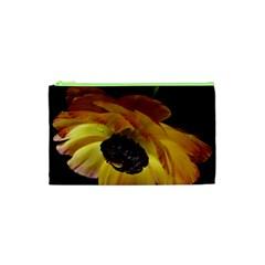 Ranunculus Yellow Orange Blossom Cosmetic Bag (xs)