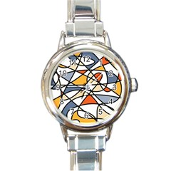 Abstract Background Abstract Round Italian Charm Watch