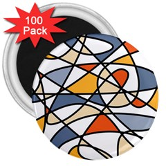 Abstract Background Abstract 3  Magnets (100 Pack)
