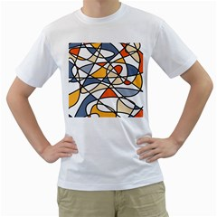 Abstract Background Abstract Men s T Shirt (white) (two Sided)