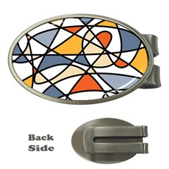 Abstract Background Abstract Money Clips (oval)