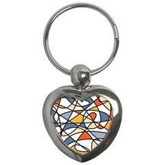 Abstract Background Abstract Key Chains (heart)