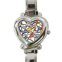 Abstract Background Abstract Heart Italian Charm Watch